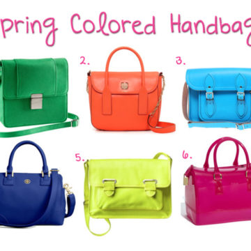 Colorful Handbags for Spring