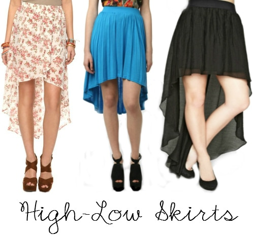 high low skirt unsweetened