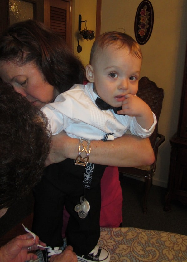 baby in a tux