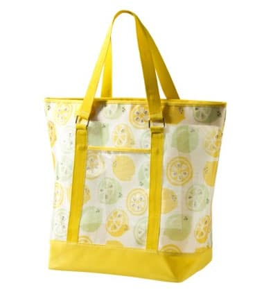 lemon beach bag