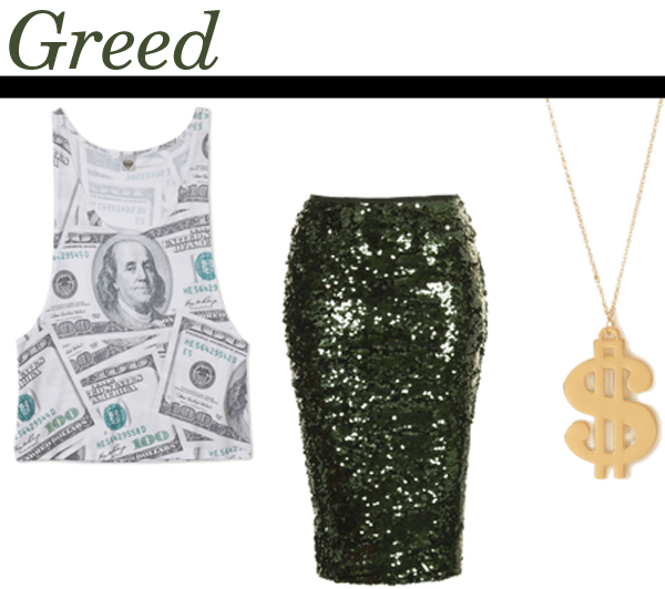 greed halloween costume