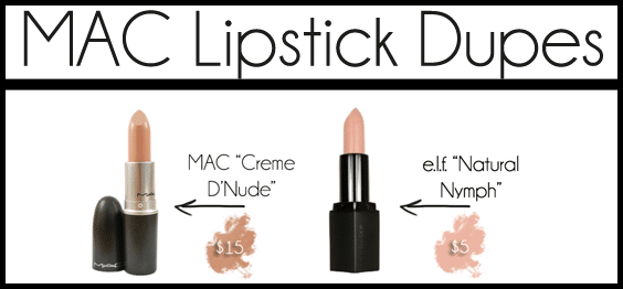 mac lipstick dupes list