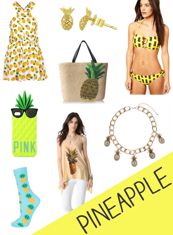Pineapple Accessories pineapple clothing & accessories | life unsweetened