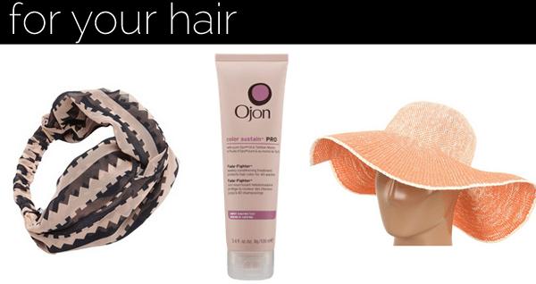 sunscreen hair