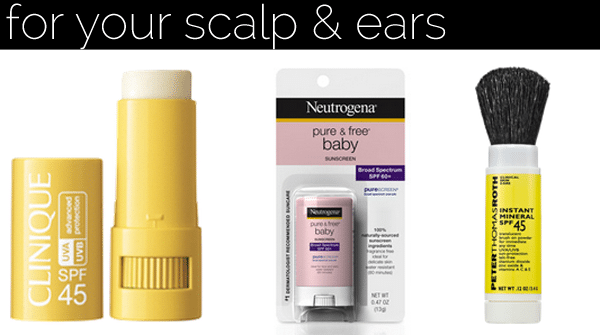 sunscreen scalp