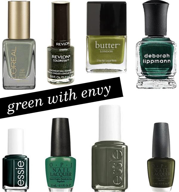 Green Nail Polish for Fall