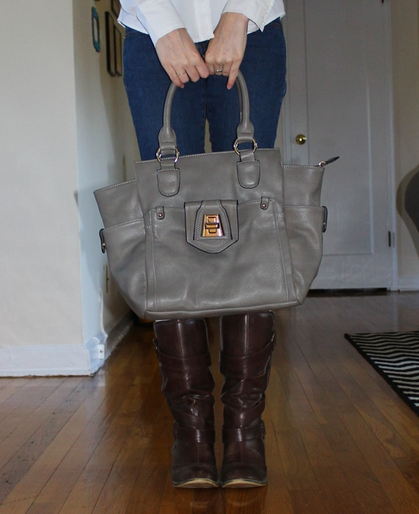 grey satchel