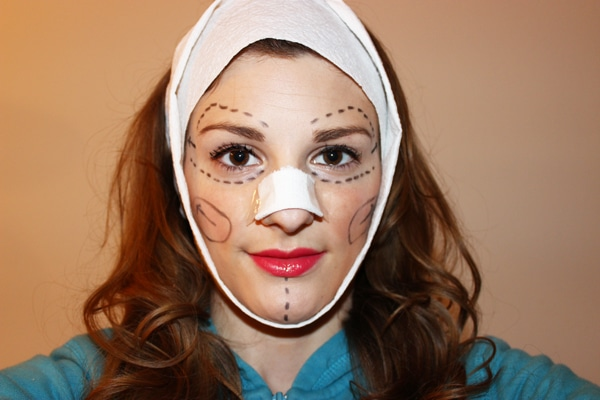 Plastic Surgery Patient Halloween Costume Life Unsweetened