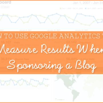 measure blog sponsor results