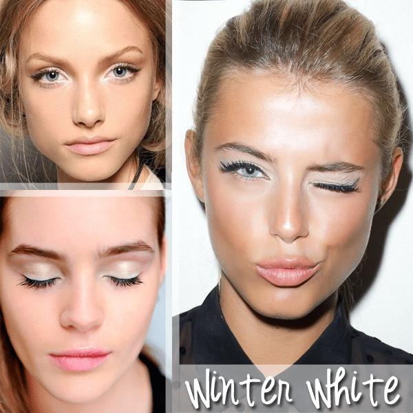 winter white makeup
