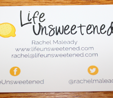 business card for blog
