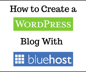 create a wordpress blog with bluehost