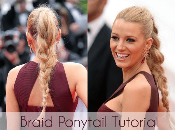 braid ponytail tutorial