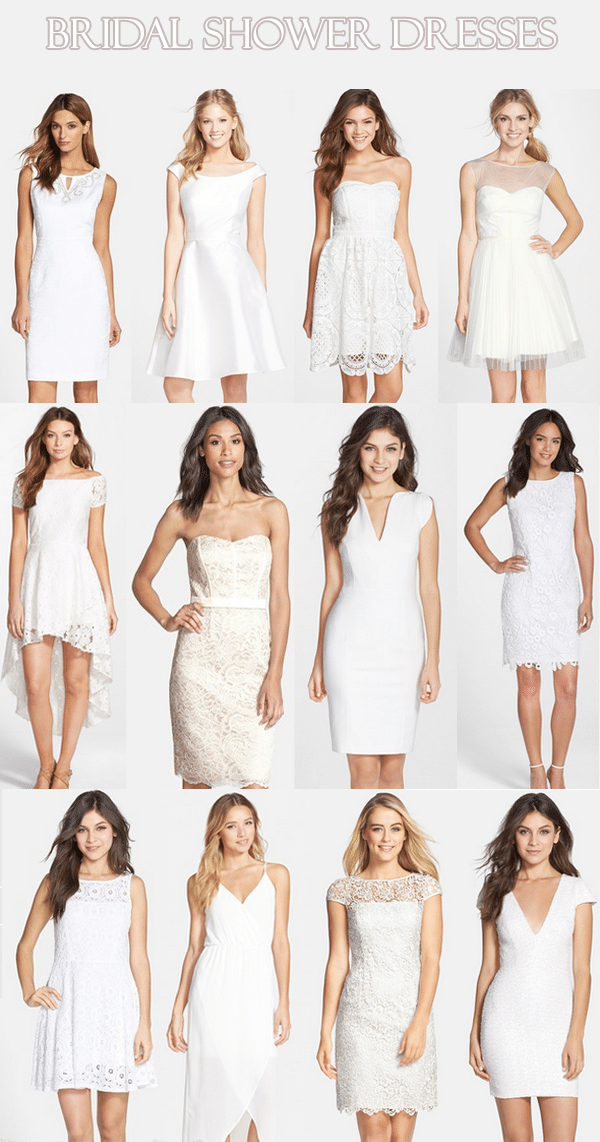 White Summer Bridal Shower Dresses Life Unsweetened