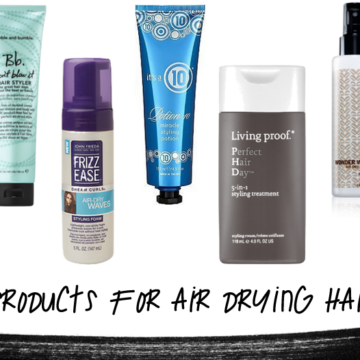air dry hair products
