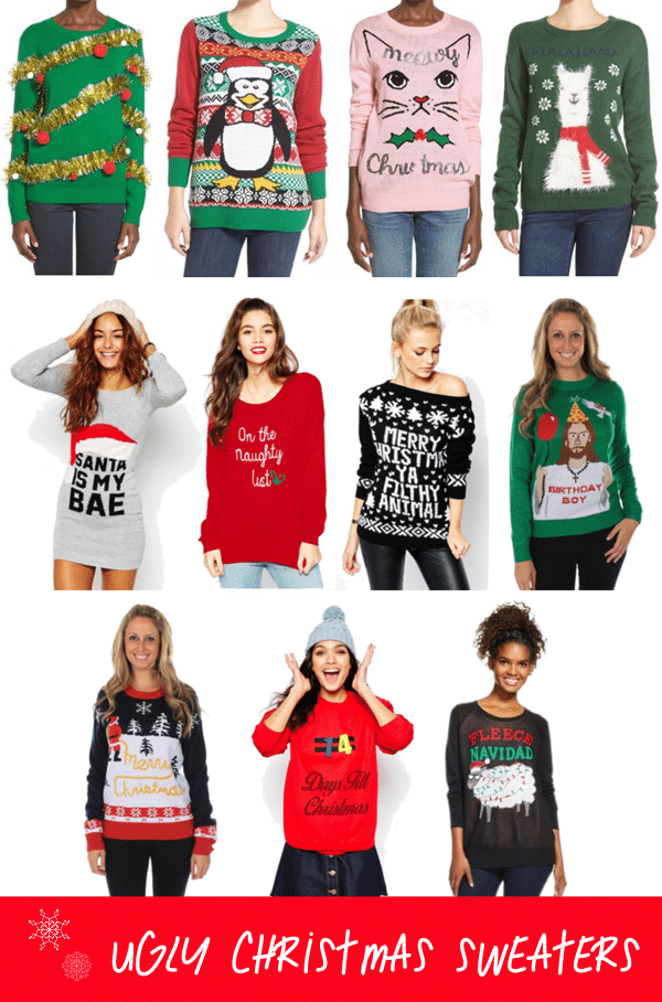 Where to buy cute christmas sweaters
