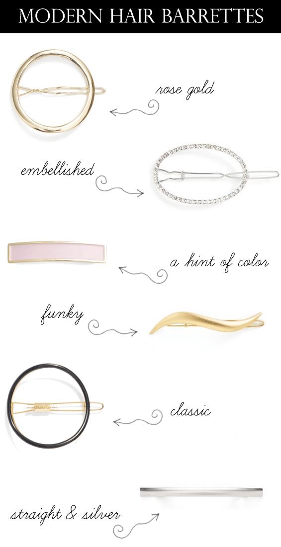 modern hair barrettes