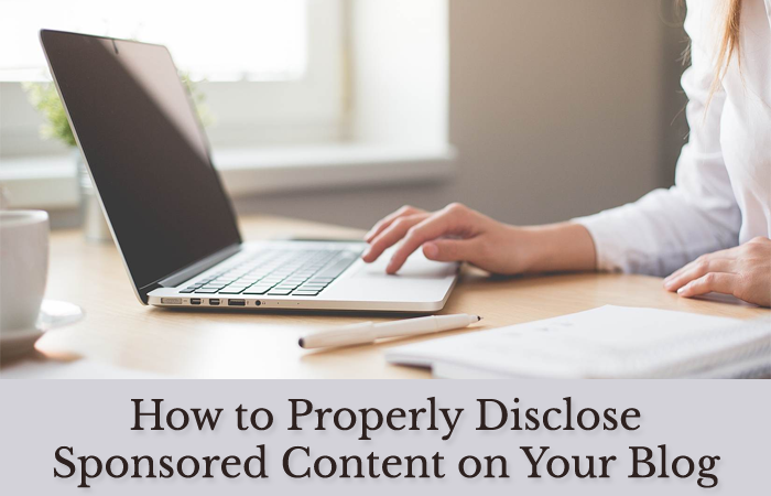 disclose sponsored content
