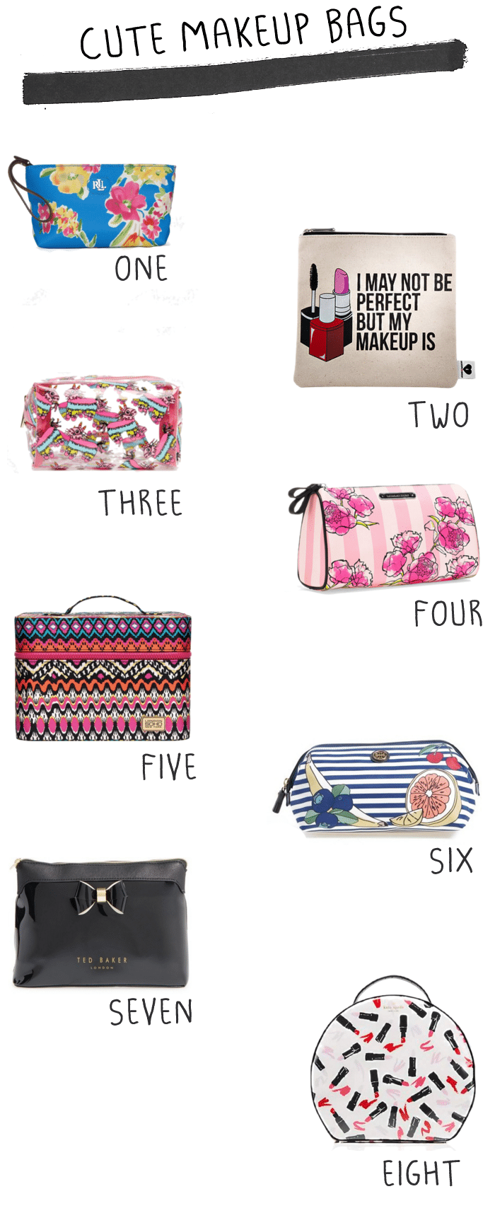 Cute Makeup Bags Life Unsweetened