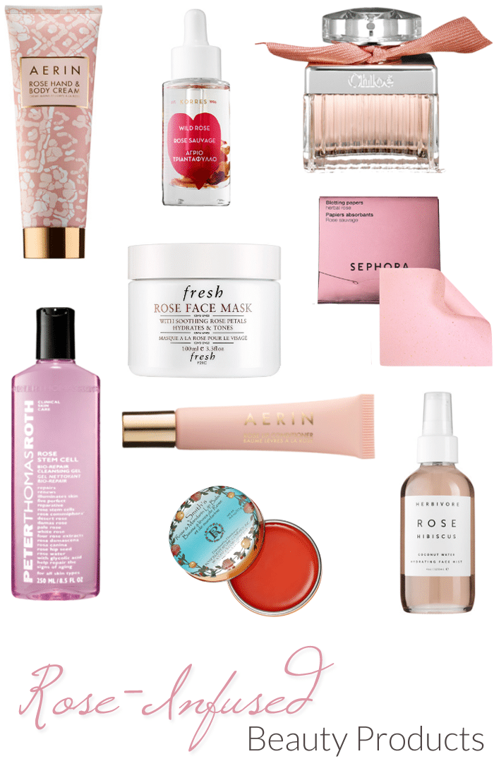 rose infused beauty products