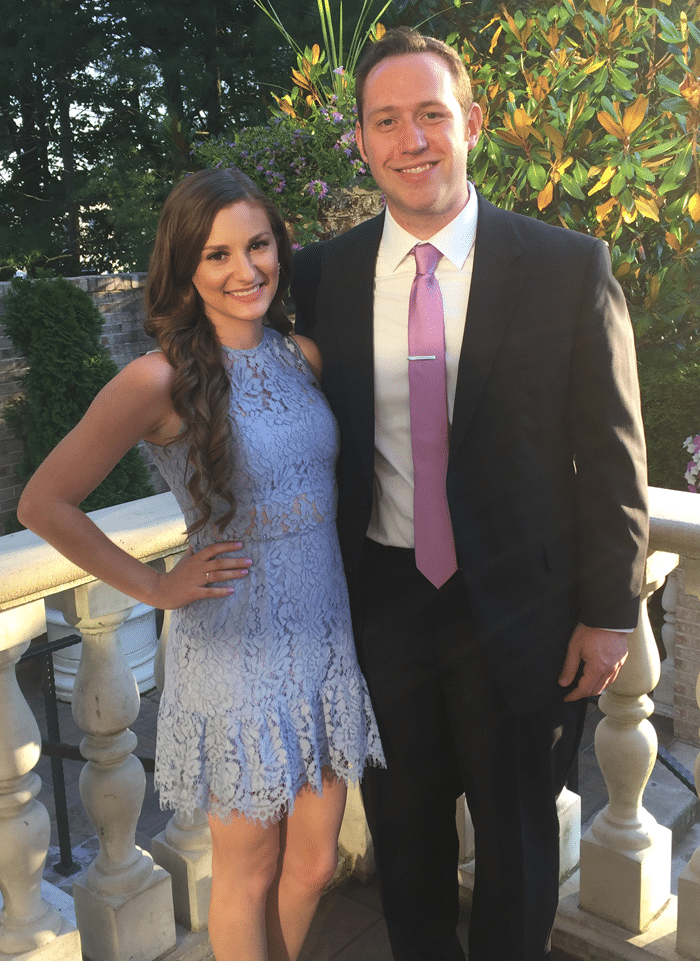 lace periwinkle dress