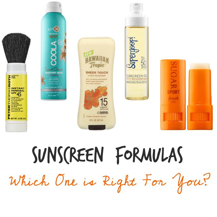 sunscreen formulas