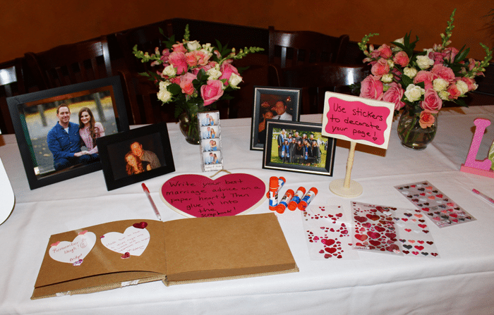 bridal shower guestbook idea