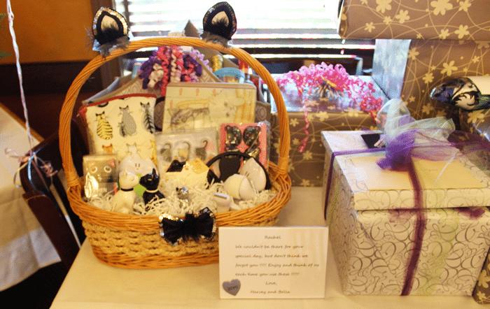 cat lady gift basket