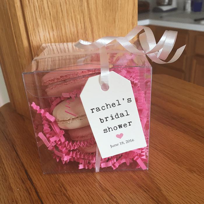 macaron bridal shower favor