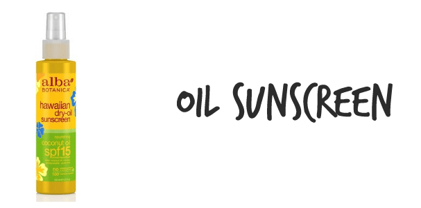 oil sunscreen