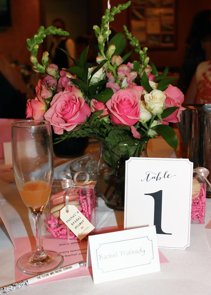 pink bridal shower decor