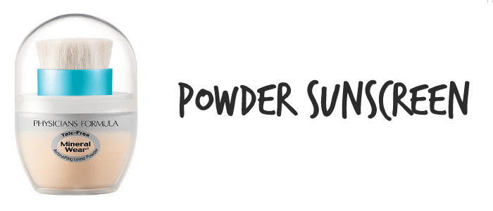 powder sunscreen