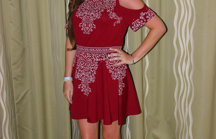 red-off-the-shoulder-dress