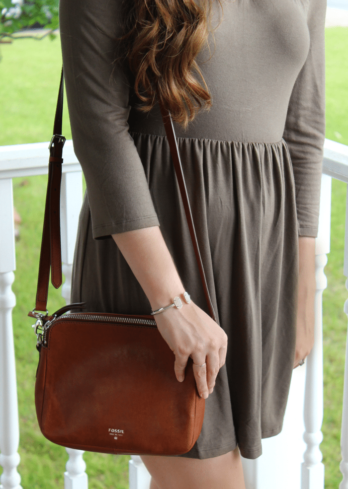 fossil brown crossbody bag