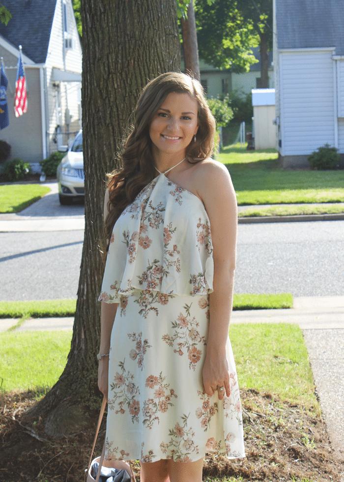 tobi floral print dress