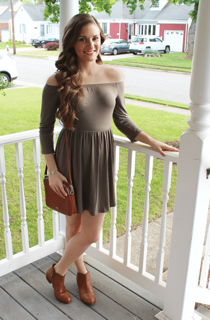 tobi green dress