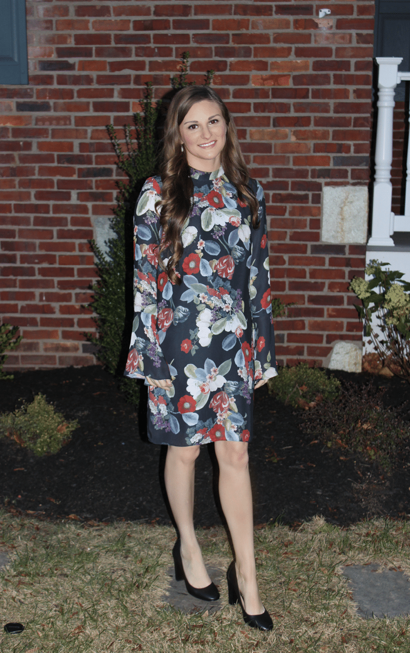 fall bridal shower floral dress